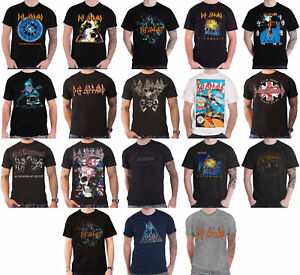 Officiel-DEF-LEPPARD-T-Shirt-hysterie-Adrenalize-through-the-night-Logo-Homme-NEUF