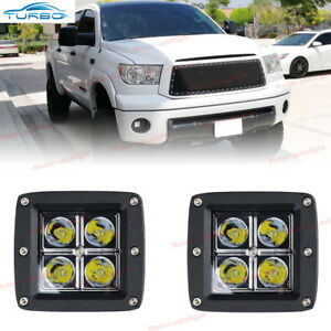 2x 16w 3inch Cube Led Spot Fog Lights For Toyota Tundra