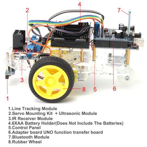 Avoidance Tracking Motor Smart Robot Car Chassis Kit 2WD Ultrasonic ArduinoSP