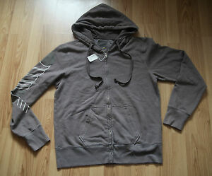Neu-Orig-291-Hoody-Hoodie-Kapuzen-Sweatshirt-Jacke-Sweatjacke-Zipper-braun-Gr-M