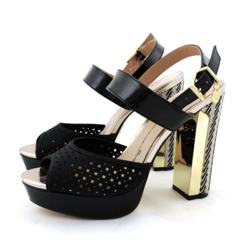 Heel High Neu Shoes Schwarz Schuhe Sandale Pumps Gaudi OkZiXuP