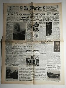 N452-La-Une-Du-Journal-Le-Matin-24-aout-1939-pacte-Germano-sovietique