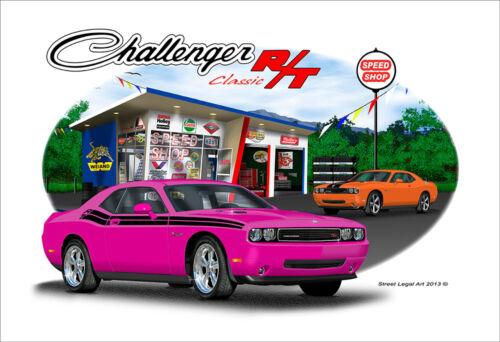 10 colors 2009-2010 Dodge Challenger RT  Muscle Car Art Print
