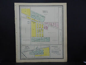 Roselle Illinois Map.Illinois Du Page County Map C 1904 City Of Roselle And Lisle L16 50