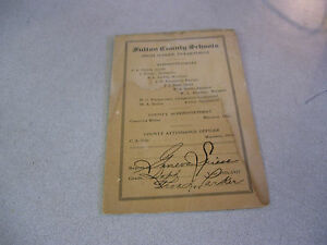 Rare-1926-27-Fulton-County-Schools-High-School-Report-Card