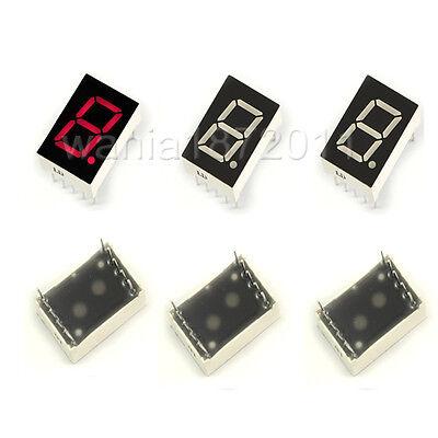 "10×Red 7 Segment 0.5"" LED Display Digital Tube Common Cathode 1 Bit Digitron"