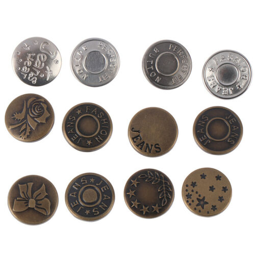 17mm Metal Jeans Button Tack Snap Fastener Press Metal Rivet Studs DIY Clothes