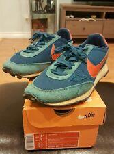 Vtg Mens Nike LDV Orange Swoosh Waffle Sneakers Sz 7.5