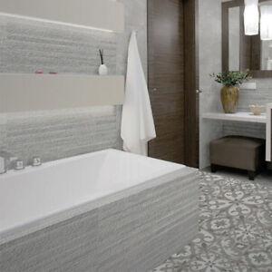 90x30cm Silex Gris Stripe Ceramic Bathroom Wall Tiles 1 SQM 37
