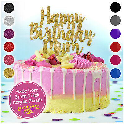 Buon Compleanno Mamma Glitter.Personalizzato Buon Compleanno Mamma Cake Topper Personalizzato