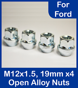 4 X M14 X 1.5 Zink 19mm Hex Offen Alufelgen Radmuttern