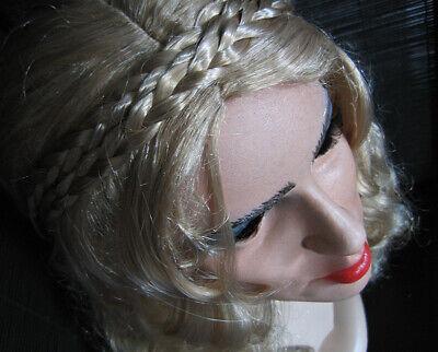 Latexmaske Lady +wimpern +folk PerÜcke Weibliches Frauengesicht Maske Crossdress 100% Hochwertige Materialien