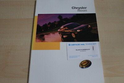 Prospekt 09/1997 Österreich Systematisch 106221 Chrysler Neon