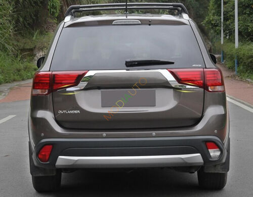 2X Chrome Rear Door Trunk Lid Cover Trim For Mitsubishi Outlander 2016 2017 2018
