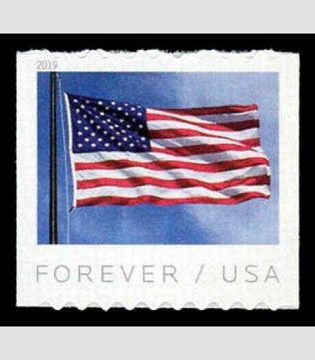2019 55c U.S. Flag, Stars & Stripes, Coil Scott 5342 Mi