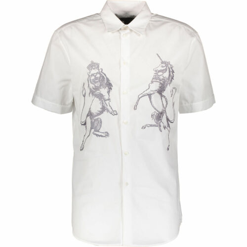White M Short John It48 Richmond Off Shirt Embroidered 70 Sleeve q8HtXt