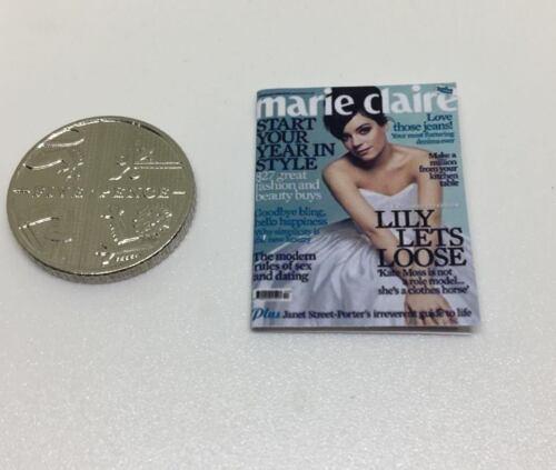 1:12th Scale Dolls House Miniature accessoires Marie Claire FEMME magazine