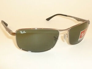 0189411d8a New RAY BAN Sunglasses Gunmetal Frame RB 3498 004 71 Green Lenses ...