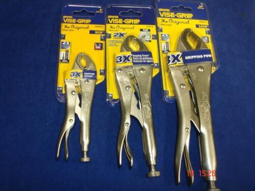 Irwin Vise Grip Curved Jaw Locking Plier Cutter Set ViseGrip Mole 10CR 7CR 5CR