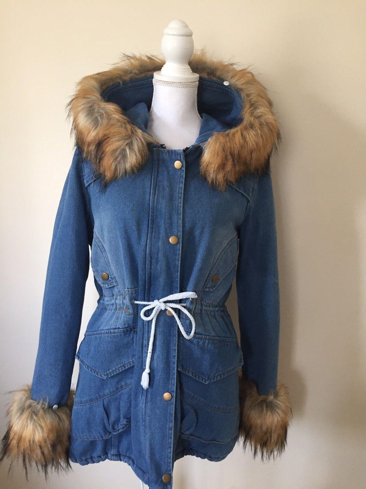 Jeans coat woman's size XL