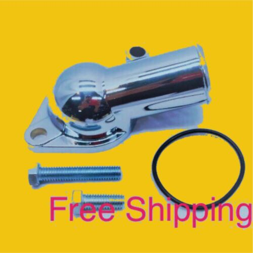 chevy thermostat Water Neck Housing BBC SBC 15 Degree O Ring NEW Chrome