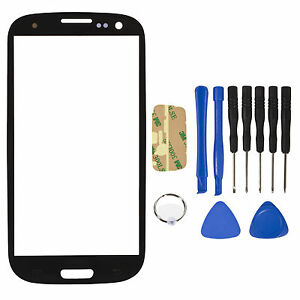 New-Outer-Screen-Glass-Lens-for-Samsung-Galaxy-SIII-S-3-i9300-tools-Black