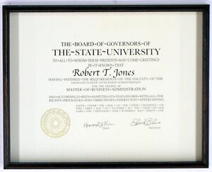 8 5x11 11x14 Diploma Picture Frame New Document