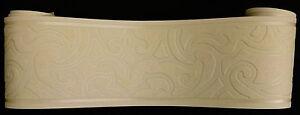 13cm 0423-2- Vlies Tapeten Bordüre Borte mit Dekor creme-beige 5m x ca