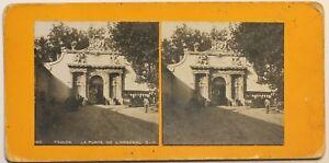 Toulon La Porta Da L Arsenal Francia Foto Stereo P49p1n Vintage Analogica