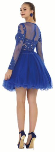 SALE PROM LONG SLEEVE SHORT COCKTAIL SEMI FORMAL HOMECOMING DRESS UNDER $100