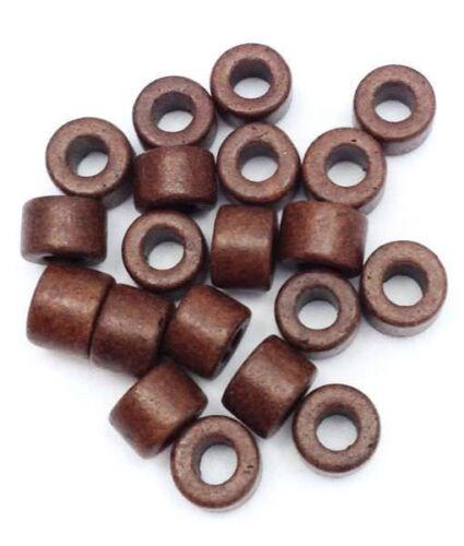 Céramique cylindre marron foncé 6 mm 20 pièces Céramique Perles