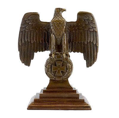Bronze Reichsadler 1.wk Auf Eisernem Kreuz - Echtbronze - Sign. Modischer (In) Stil;