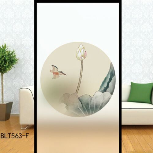 PVC Window Glass Film Sticker 3D Static Cling Cover Frosted Privacy Home Decor
