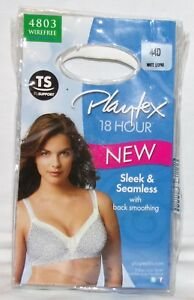 cfe9653ee2 Playtex 18 Hour Wirefree Bra 44D New 4803 Leopard Print Wire Free