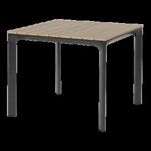 Gartentisch Beistelltisch Polywood Aluminium anthrazit braun 90x90cm