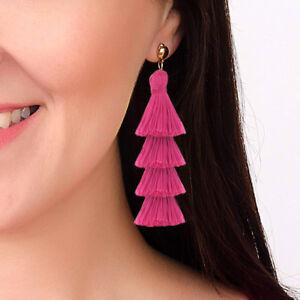 Women-Multilayer-Long-Tassel-Earring-Drop-Dangle-Earrings-Jewelry-Party-Vacation