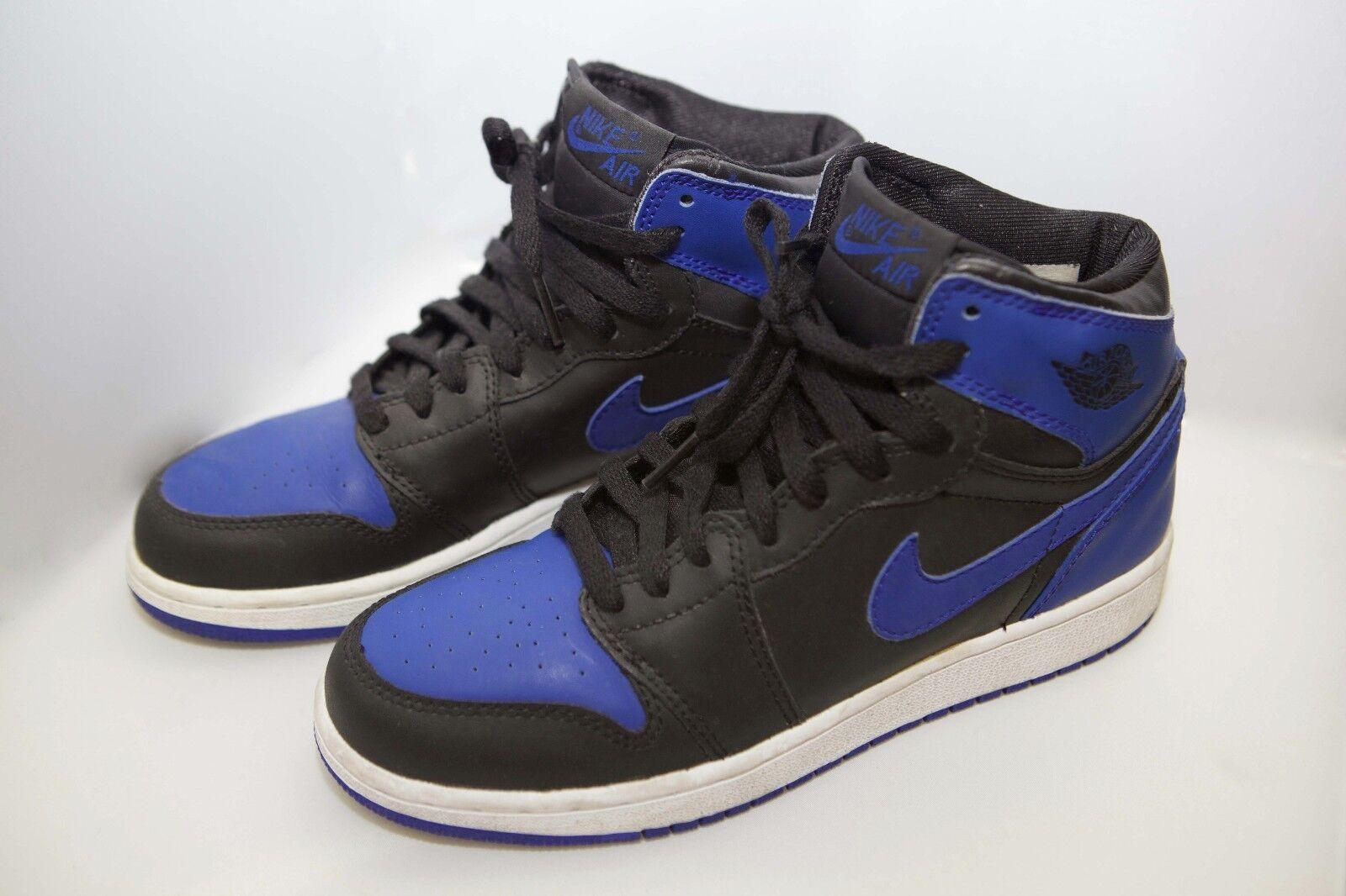 Nike Air Jordan Retro 1 tamaño y 6 2018 Negro autentico Royal Azul High og autentico Negro comodo y atractivo 28c49e