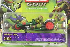 CARRERA GO 61286 TEENAGE MUTANT NINJA TURTLES RAPHAEL'S TRIKE 1/43 SLOT CAR NEW