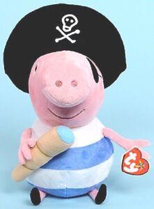 Peppa Pig's PIRATE GEORGE by Ty Beanie Buddies  - 25cm - New