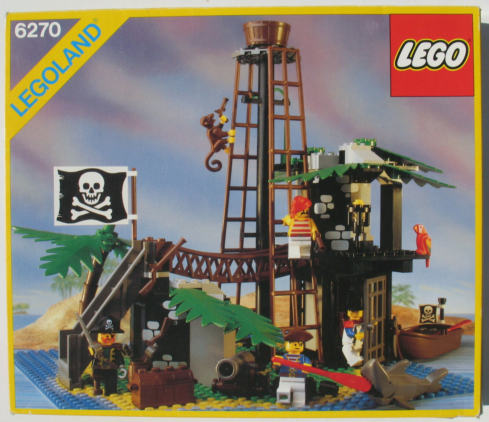 LEGO 6270 - - -  Pirateninsel - Forbidden Island - Piraten - in OVP / Box - 1989 ca3914