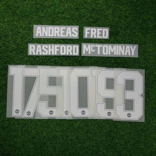 2018-19 Man Utd POGBA#6 RASHFORD#10 LUKAKU#9 UCL Printing Name Number Set