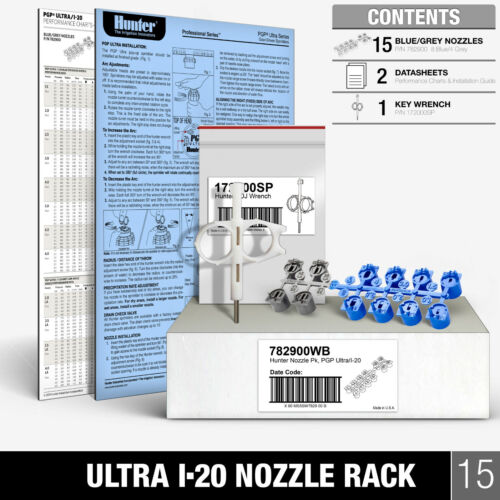 HUNTER PGP Ultra NOZZLE RACK Sprinkler Rotor I-20 782900