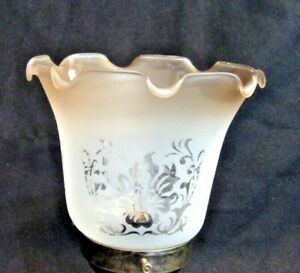 2-1-4-034-Fitter-Globe-Lamp-Fixture-Floral-Pattern-Amber-Rim-Shade