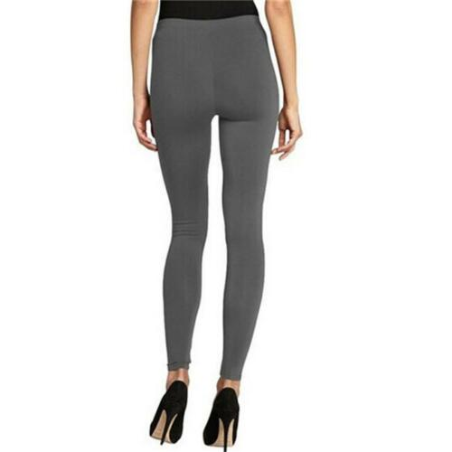 Ladies Plain Shiny Slim Stretch Footless Skinny Leggings Pencil Trousers BS