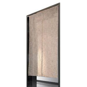 Noren-Japanese-door-curtain-Linen-Natural-white-brown-150x85cm-from-japan