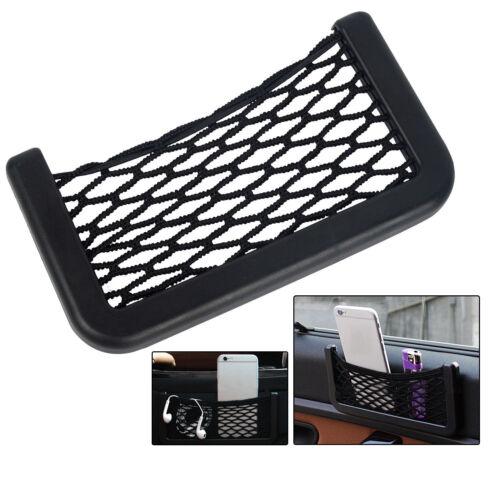 Car Resilient String Storage Net Bag Holder Fits Phone holder Pocket Organizer