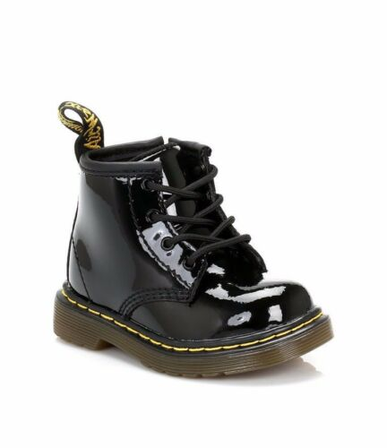 Dr Martens Brooklee B 115933002 Black Patent Leather Baby Toddler Boots