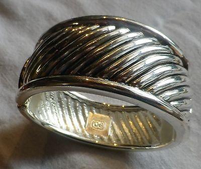 2019 Ultimo Disegno Beau Large Bracelet Imposant Large Couleur Argent Bijou Vintage 815