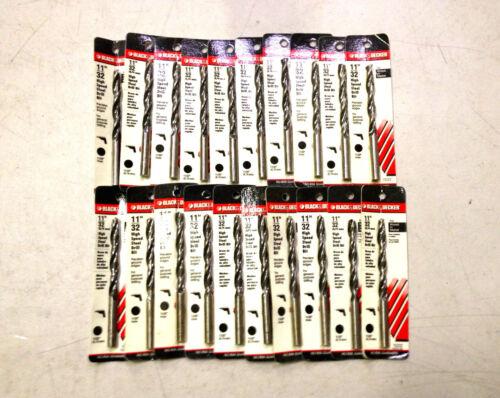 """20 NEW BLACK /& DECKER 11//32/"""" HIGH SPEED STEEL DRILL BITS"""