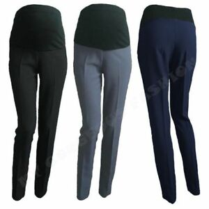 Image Is Loading Elegant Maternity Trousers Skinny Office Work Pants Over